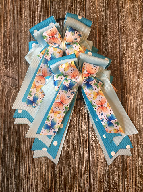 Blue butterfly bows!