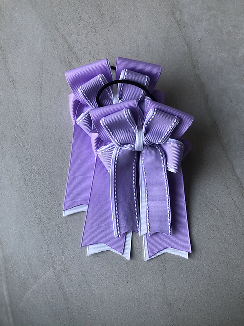 Lilac stitched bows!