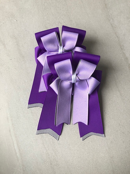 Grey & purple bows!