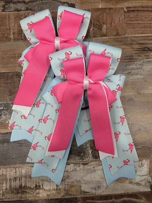 Tiny flamingo bows!