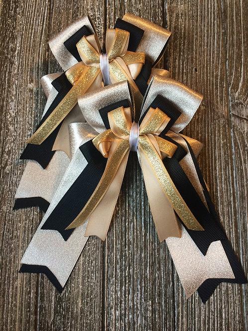 Gold shimmer bows!