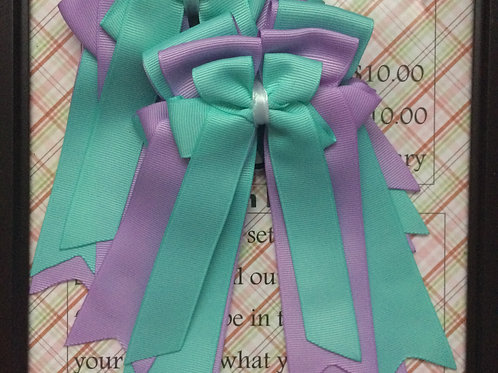 Purple & teal bows!