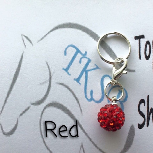 Red bridle charm!