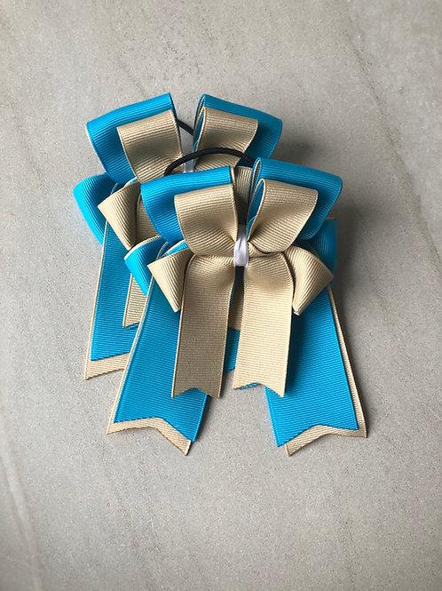 Sand & sky blue bows!
