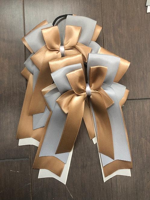 Caramel & grey bows!