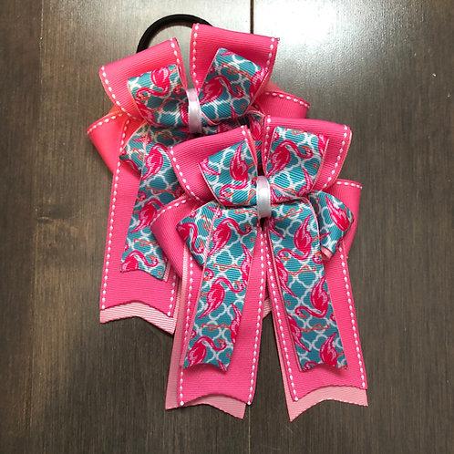 Pink & blue flamingo bows!