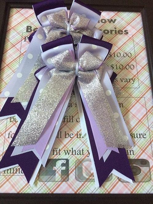 Plum purple sparkle show bows!