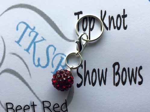 Beet red bridle charm!
