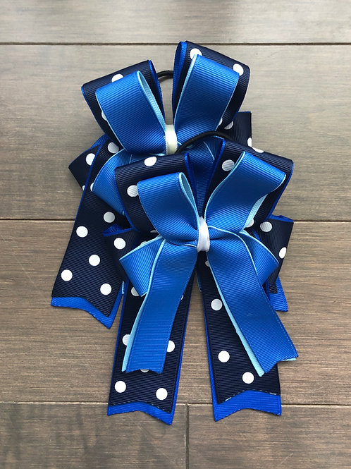 Navy, royal, & sky blue bows!