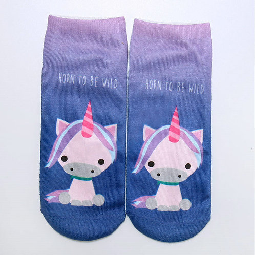Cartoon Unicorn Socks!
