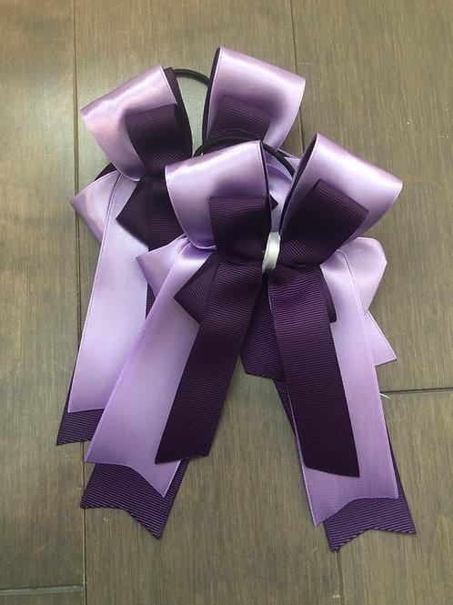 Silk plum bows!