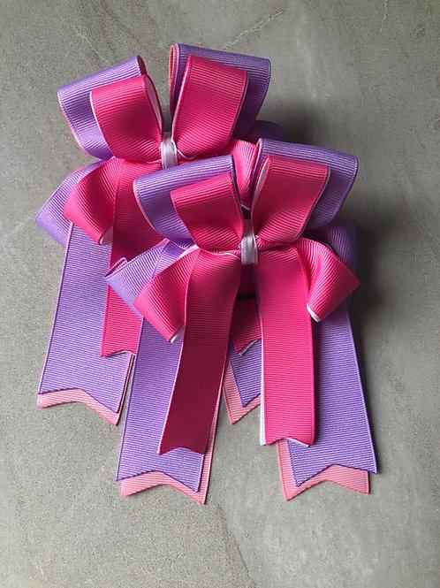 Lilac & pink bows!
