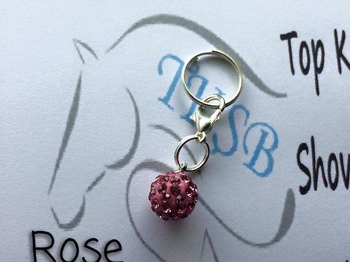 Rose bridle charm!