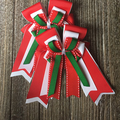Holiday themed bows!