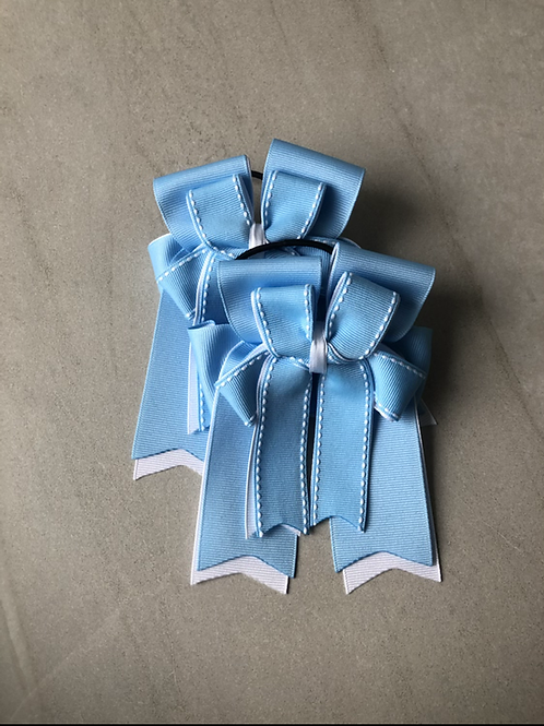 Baby blue stitched bows!