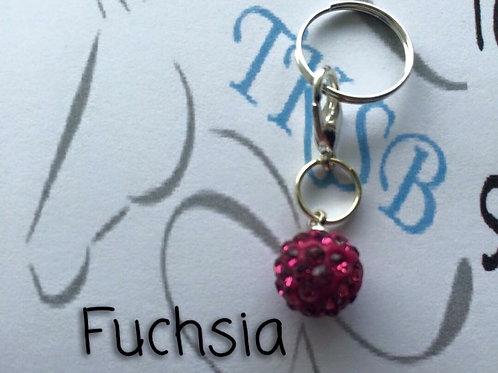 Fuchsia bridle charm!