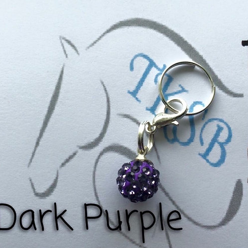 Dark purple bridle charm!