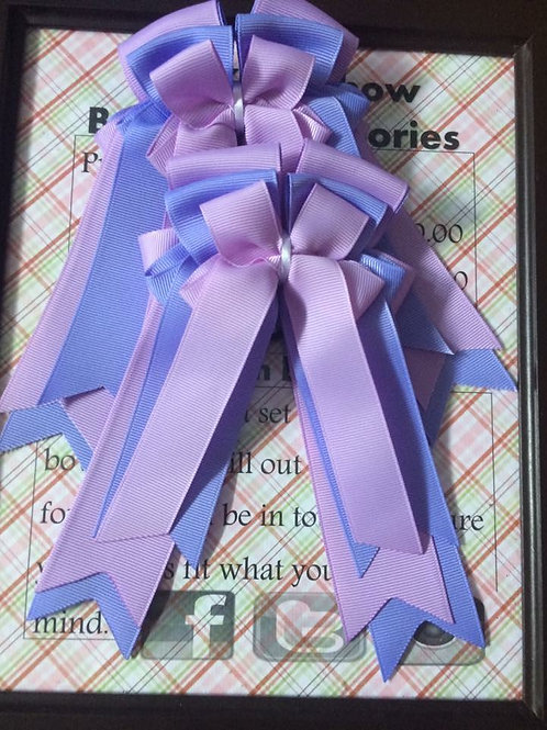Shades of purple show bows!