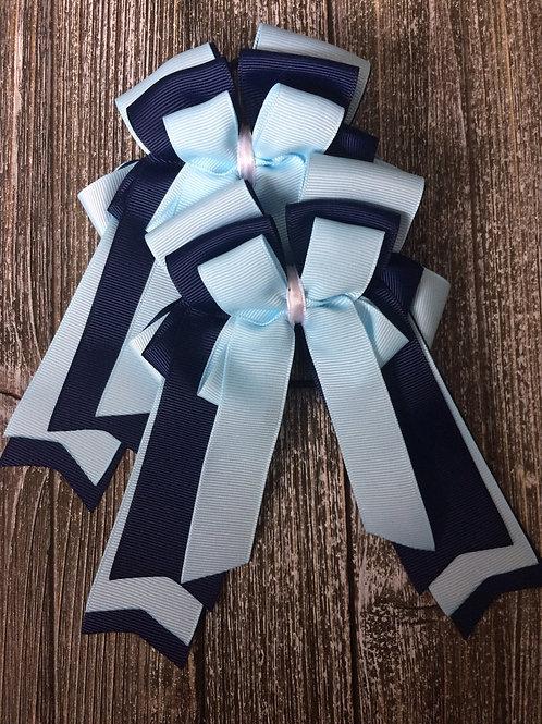 Light blue on navy bows!