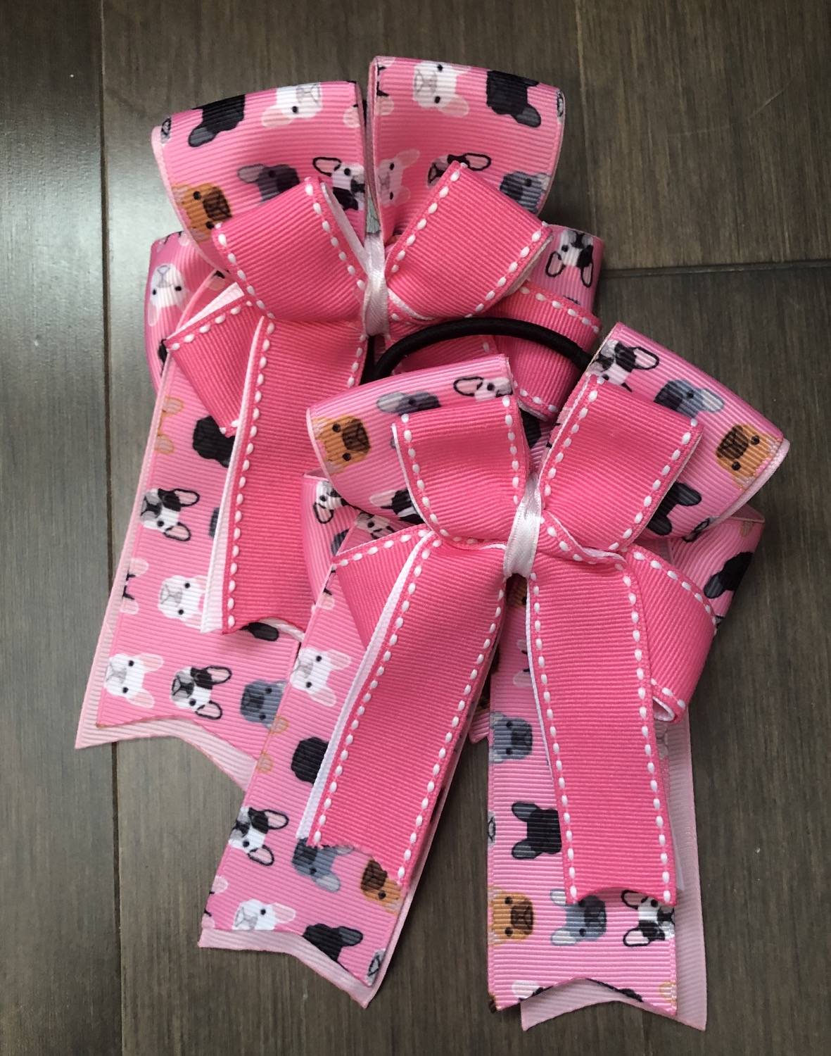 Frenchie stitched bows!