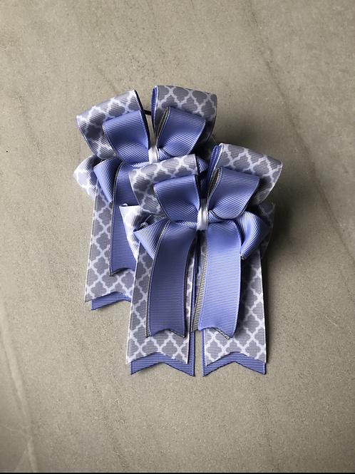 Purple quatrefoil bows!