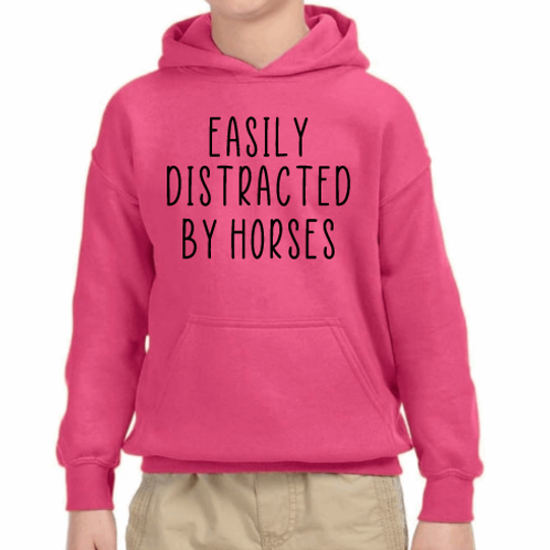 Easily distracted by horses