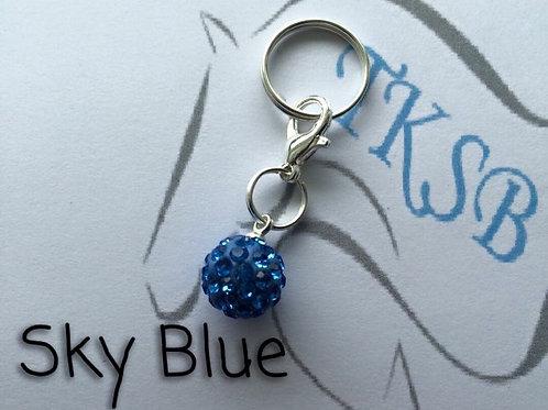 Sky blue bridle charm!