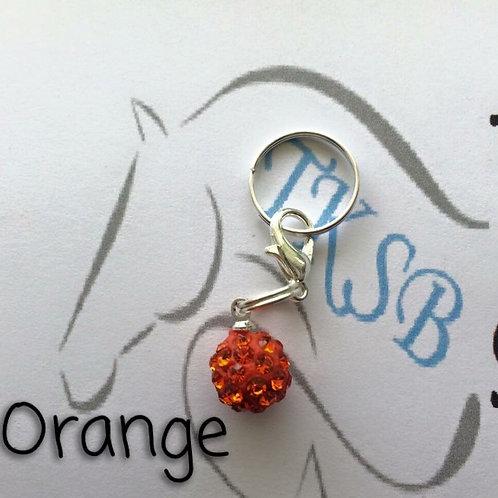 Orange bridle charm!