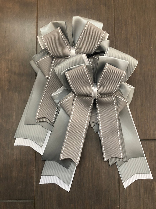 Grey stitched bows!