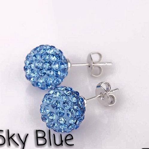 Sky blue earrings!