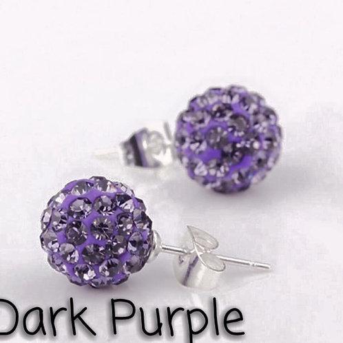 Dark purple earrings!