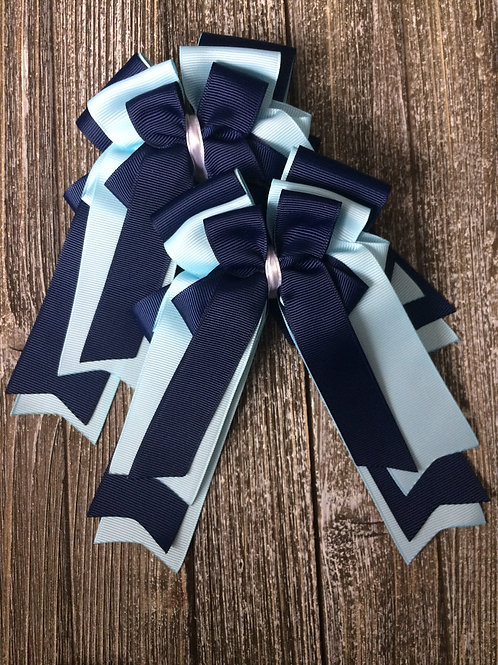 Navy & light blue bows!