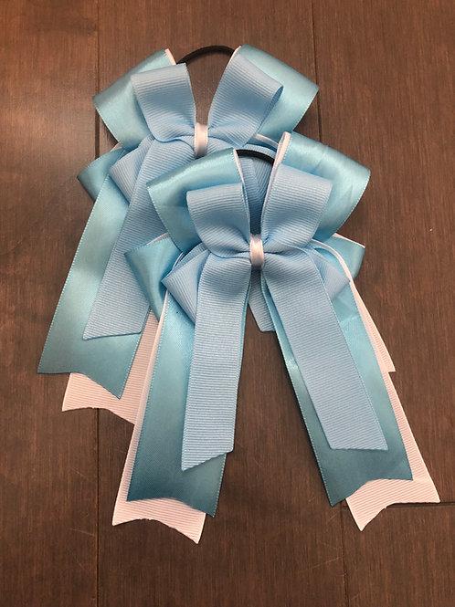 Silk blue bows!