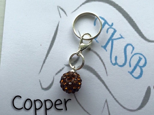 Copper bridle charm!
