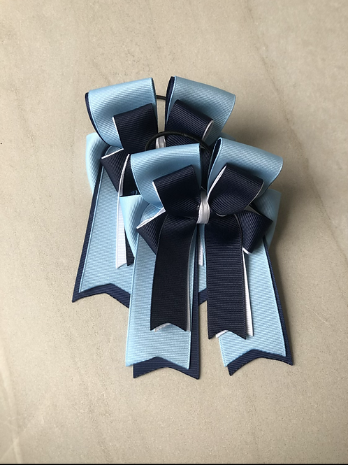 Navy & baby blue bows!