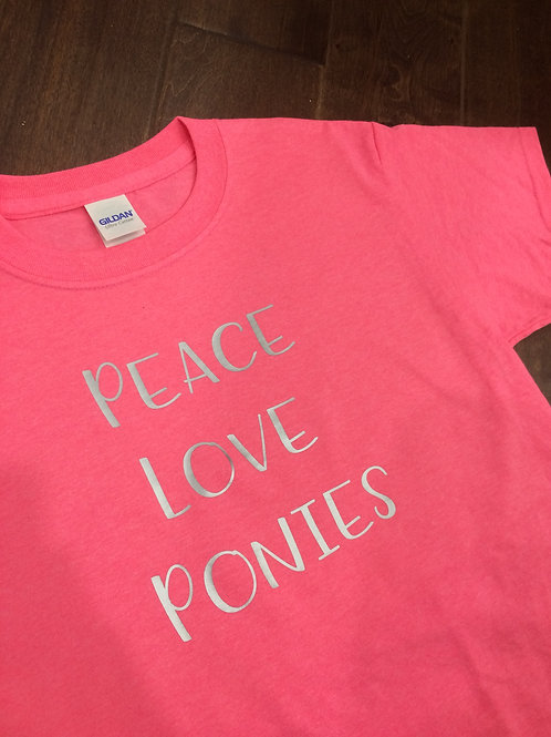 "Youth - ""Peace, Love, Ponies"" tee!"