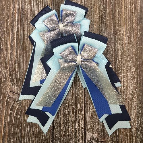 Blue sparkle bows!
