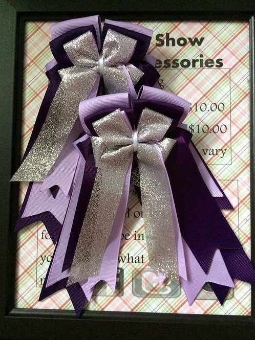 Light purple & plum show bows!