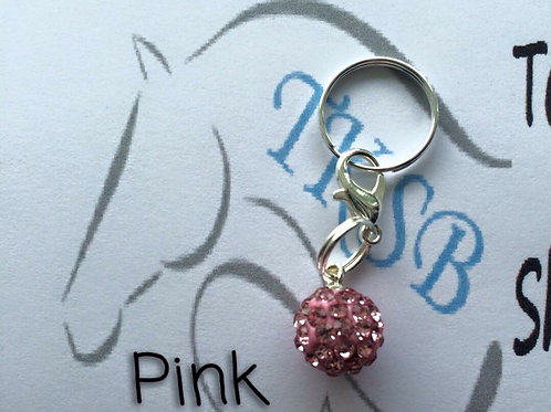 Pink bridle charm!