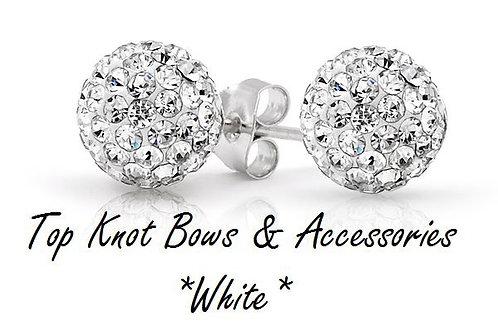 White earrings!