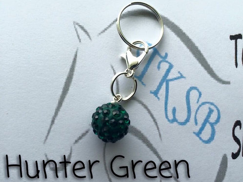 Hunter green bridle charm!