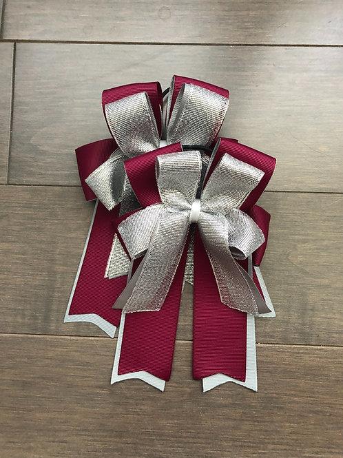 Burgundy sparkle bows!