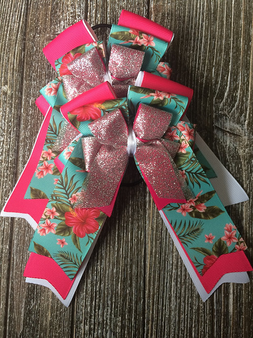 Tropical sparkle bows!