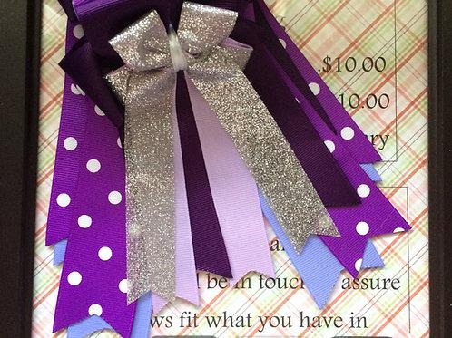 Purple polka dot & sparkle bows!
