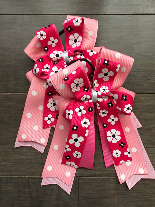 Pink floral bows!