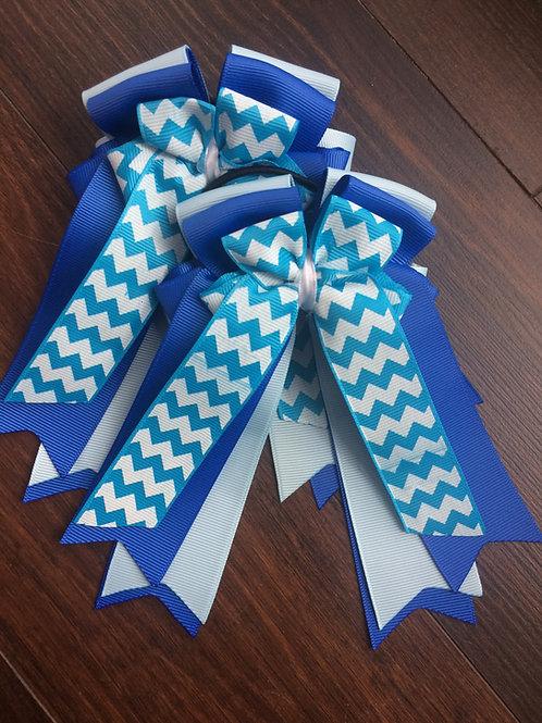 Blue chevron bows!