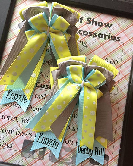 Horse show bows