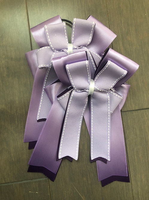Silk plum stitched bows!