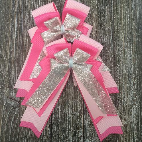 Pink sparkle bows!