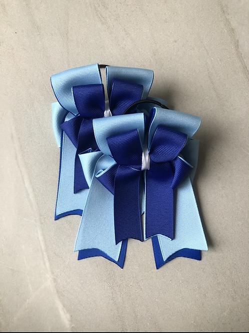 Baby & royal blue bows!